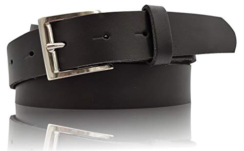 Fronhofer Ceinture de jean ou costume pour homme, 3 cm, cuir haut de gamme noir, boutons-pression, 17662, Taille:Taille 100 cm, Couleur:Noir
