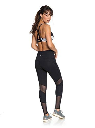 Roxy Damen Mad About You Sport Leggings, Schwarz (True Black KVJ0), 34 (Herstellergröße: Small)