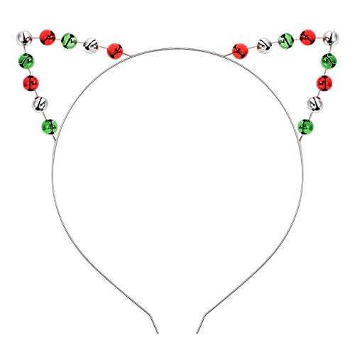 Christmas Jingle Bell Headband lovely Holiday Cat Ears Hairband Festive Party Hair Hoop for Women Girls Kids Costume Headwear Christmas Ornament