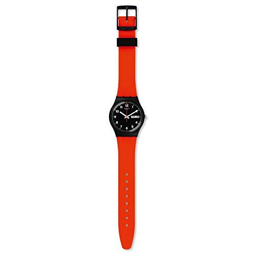 Swatch Orologio Analogueico Quarzo Unisex con Cinturino in Silicone GB754