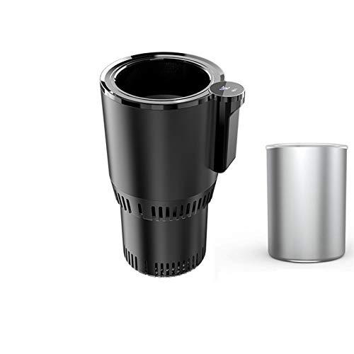 Honored Taza térmica de 12 V / 24 V para el hogar con aislamiento para coche, portátil, para bebidas eléctricas, ideal para viajeros al aire libre (color negro)
