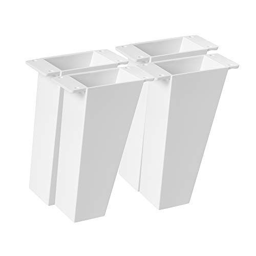 4un. Pata Inclinada pie mueble nórdico escandinavo en plastico ABS ANTIHUMEDAD color blanco