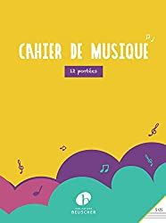 Partition : Cahier a spirales 96 pages pb 140 12 portees