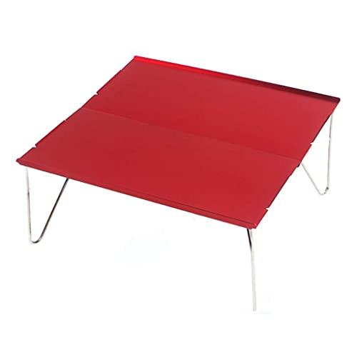 AWJ Mini Mesa Plegable de aleación de Aluminio, portátil, al Aire Libre, Barbacoa, Muebles para Acampar, Escritorio para computadora