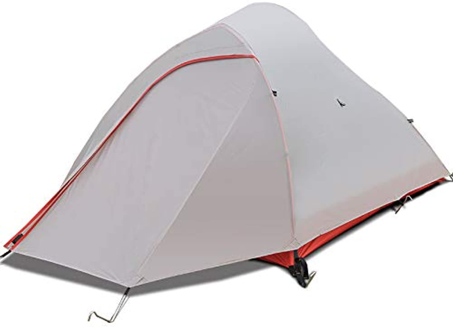Tent. Outdoor Nylon Coated Silicon  Single Double Tent  Aluminum Pole AntiStorm Rain Field  Camping Tent