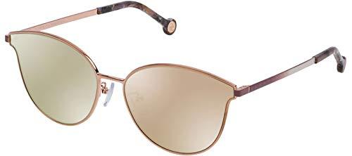 Carolina Herrera SHE104 gafas de sol w / 59mm Marrón Espejo Lente Rosa 8FCX ELLA 104 mujer Oro Grande