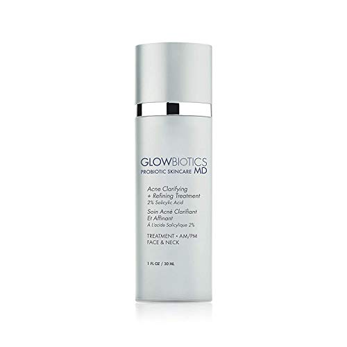 GLOWBIOTCS MD - Probiotic Acne Clarifying + Refining Treatment Minimize Breakouts and Ease Inflammation - For Oily and Combination Skin Types, Silver, 1.0 Fl Oz