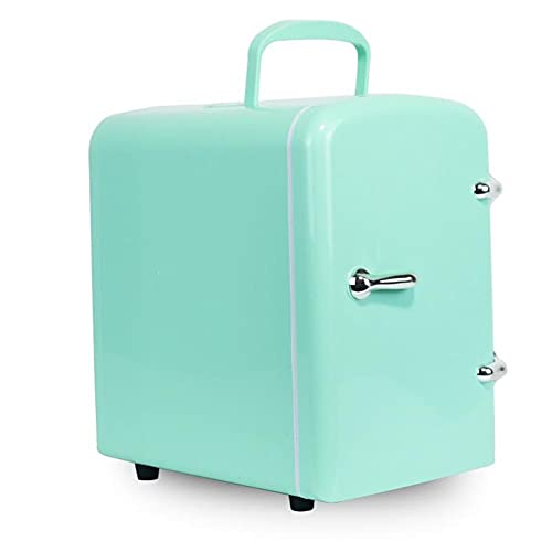HLW green4L refrigerador Mini Coche, Nevera portátil, refrigerador electrónico finalidad de semiconductores Doble para el Coche y el hogar, la alimentación y la cosmética del refrigerador