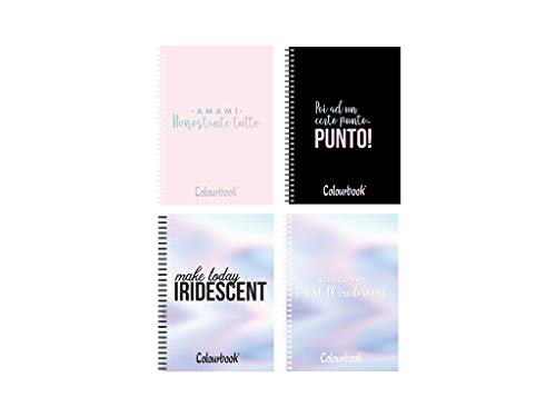 Selezione Varzi Quaderno Colourbook A5 Spiralato iridescente Fogli 80Gr 5MM