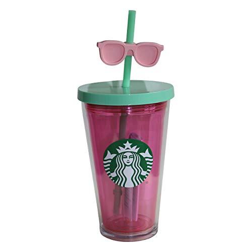Starbucks® Pink Sunglass Sommer Cold to go Sommer Smoothies Früchte Becher für Kaltgetränke