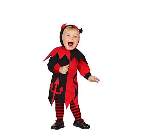 Atosa-61195 Atosa-61195-Disfraz Demonia-Bebé + 24 Meses-Niña-Rojo, color (61195) , color/modelo surtido