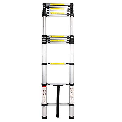 Foxmey Extension Ladder, Telescoping Ladder, 12.5ft 3.8m Telescopic Extension Step Ladder Aluminum Alloy Folding Multi Purpose (Step Ladder)