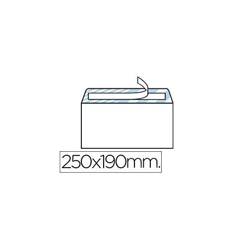 Liderpapel Sobre N.13 Blanco Cuarto Prolongado 190X250Mm Tira De Silicona Caja De 250 Unidades
