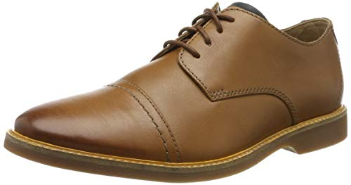 Clarks Atticus cap, Scarpe Stringate Derby Uomo, Marrone (Tan Leather Tan Leather), 42 EU
