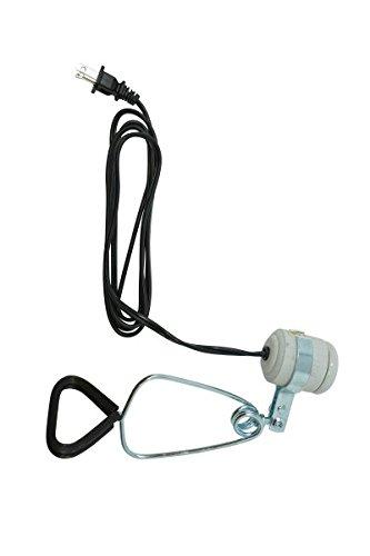 Woods 328 150-Watt Brooder Clamp Lamp With Porcelain Socket (6-Foot, 18/2 Gauge),White