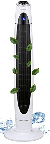Turmventilator | 3 Stufen | Ionisator | 3 Modi | 60 Watt | 12h Timer | Fernbedienung | Oszillierend | LED-Display | Tower-Ventilator | Standventilator | Säulenventilator | Luftkühler…