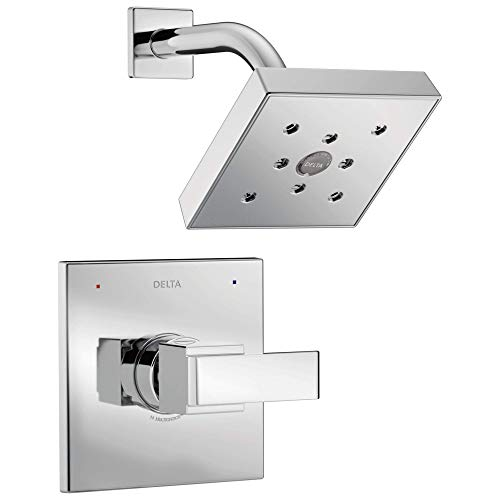 Ara 14 Series Single-Function Shower Trim Kit with Single-Spray H2Okinetic Shower Head, Chrome  (Valve Not Included) - Delta T14267