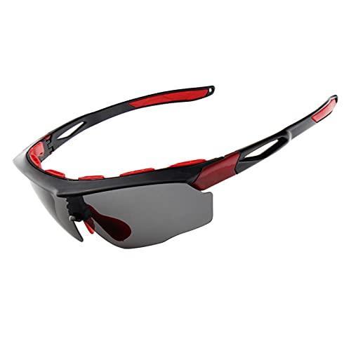 YHNY Gafas Deportivas al Aire Libre de Estilo Nuevo, vidrios de Pesca de montañas de montaña Anti-Ultravioleta Intercambiables, Gafas de Sol polarizadas Red