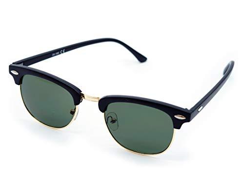 Kost Gafas de sol Hombre Mujer 100% protección UVA gafas Unisex - Clásicas Negro Dorado