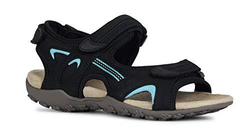 Geox Sandal Strel Größe 41 EU Schwarz (schwarz)