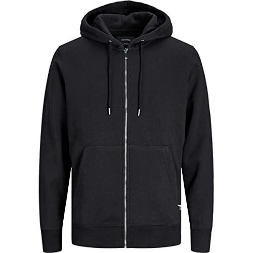 Jack & Jones Jjesoft Basic Sweat Zip Hood Noos Blouson À Capuche, Noir, XL Homme