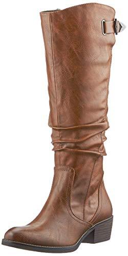 MARCO TOZZI Damen 2-2-25524-25 Langschaftstiefel Kniehohe Stiefel, COGNAC ANTIC, 39 EU