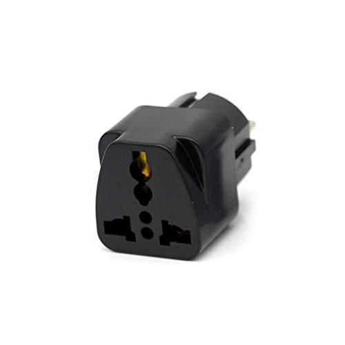 Enchufe eléctrico adaptador blanco negro para viajes y hogar en el extranjero para convertidor de enchufe europeo de la UE para Italia, Francia, España, Rusia, etc. Black EU Plug
