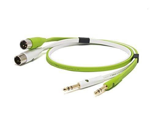 Neo NEOTXMB2M - Cable TRS a XLR, verde y blanco