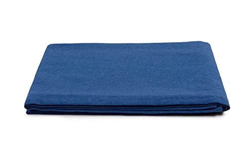 HomeLife - Frühlings-Sommer-Tagesdecke aus Piqué [220 x 260], hergestellt in Italien, Französische Baumwolle, einfarbig, Tagesdecke für französisches Bett, 1,5P Nachtblau