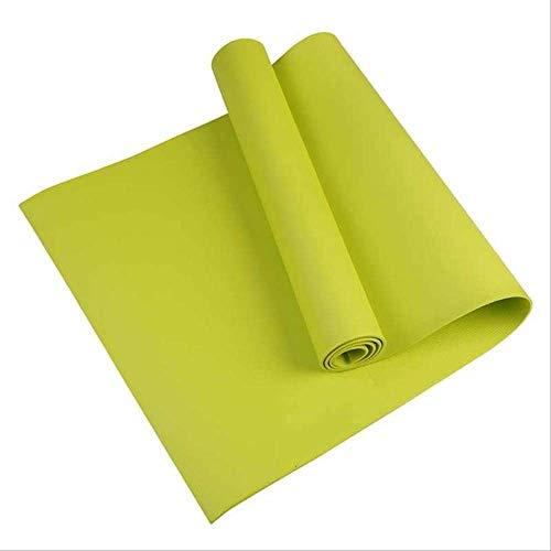 TPE yogamat met positioneringslijn, antislip, voor beginners in de sportschool, 4 mm Groene maaltijd