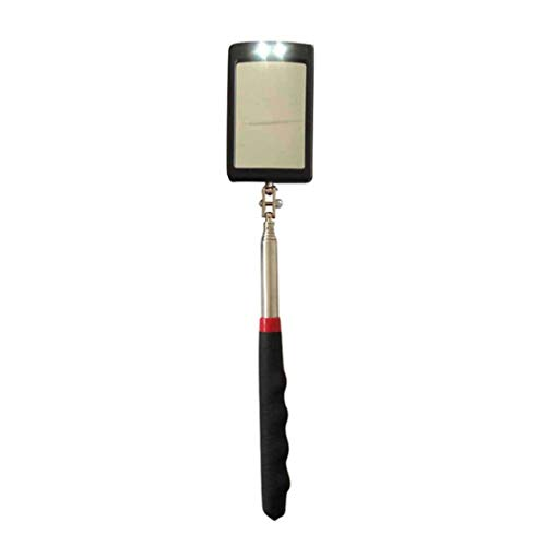 WKBY Miroir dinspection t/élescopique /à LED 360 pivotant pour Outil de visualisation suppl/émentaire Model 3