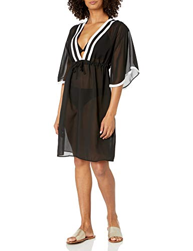Gottex Damen V-Neck Tunic Swimsuit Bademode, Cover-Up, Mirage Black, Small