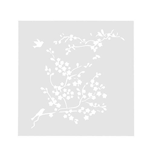 Seawang Blumendruck-Schablone für Kaffee, Kuchen, Buttercreme, Sprühform, Dekorationswerkzeug
