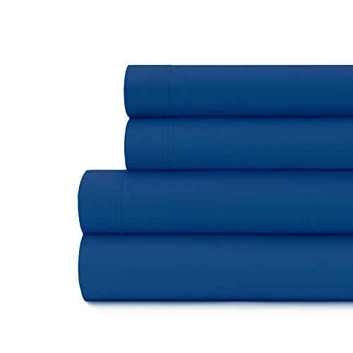 Briarwood Home Luxury Jersey Sheet Set- Extra Soft 100% Cotton Breathable Sheets - 150 GSM Deep Pocket, Easy Fit - Comfortable & Cozy - All Season Bedding Sheets(Twin, Royal Blue)