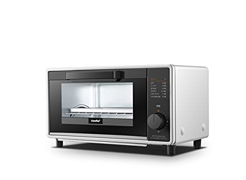 COMFEE  オーブントースター トースト2枚 1000W 小型 8L 食パン 一人暮らし用 15分タイマー搭載 受け皿 トレー付き コンパクト 簡単操作 1年保証 CF-CD084