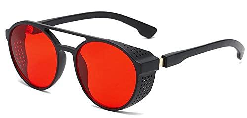 Gafas de sol clásicas punk para hombre, para correr, montaña, bicicleta, motocicleta, negro, rojo,