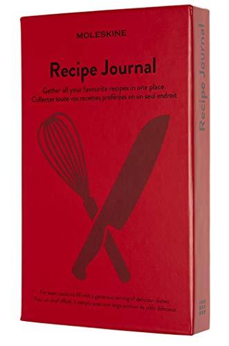 Moleskine - Cuaderno de Recetas, Cuaderno Temático, Cuaderno de Tapa Dura para Coleccionar y Organizar Tus Recetas, Tamaño Grande 13 x 21 cm, 400 Páginas