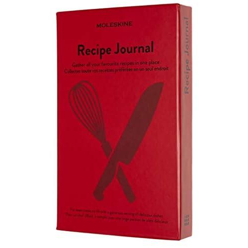 Moleskine Recipe Journal, Notebook a Tema - Taccuino con Copertina Rigida per Raccogliere ed Organizzare le Tue Ricette, Dimensione Large 13 x 21 cm, 400 Pagine