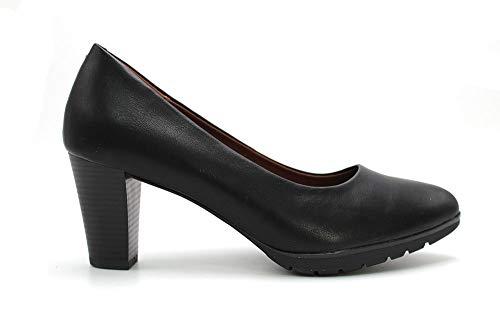 HUALUN - Zapato de salón para Mujer con tacón Alto Cuadrado, Plataforma y Suela de Goma. para: Mujer Color: Black Talla:38