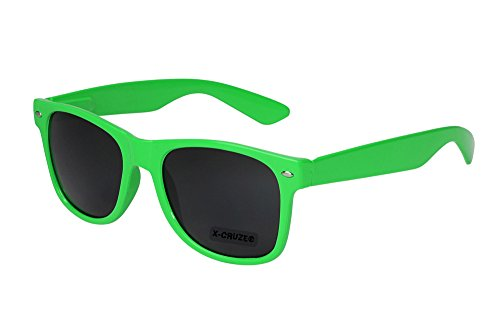 X-CRUZE® 8-012 - Occhiali da sole da nerd Style Stile Retrò Vintage Donna Uomo Signore Signora Unisex - verde chiaro