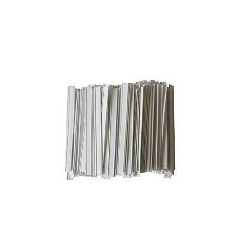 Verschlussclips - Beutelverschlüsse - Tütenverschlüsse, WEISS (500 Stück, 60 x 8 mm)