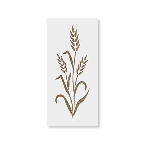 Wheat Stencil Template for Walls and Crafts - Reusable Stencils for Painting in Small & Large Sizes