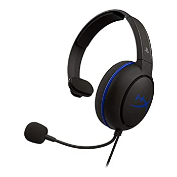HyperX Cloud Chat Headset – Official Playstation Licensed for PS4 Clear Voice Chat 40mm Driver Noise-Cancellation Microphone Pop Filter in-Line Audio Controls Lightweight Reversible