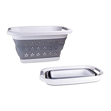 Adorn Collapsible Pop Up Laundry Basket Foldable and Space-Saving Storage Container, Easy and Practical Solution,Compact Size Basket.
