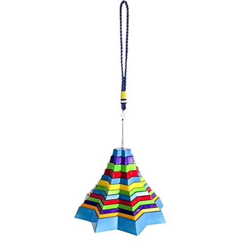 Carrilhões de vento ao ar livre, Arco-íris Star Tower Brinquedo de descompressão Carrilhão de vento Memorial de sinos de vento Enfeite de Natal Decoração de Halloween Suprimentos de festa