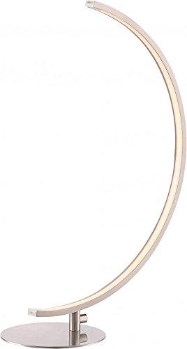 Design intemporel-lampe de table lED en nickel mat et verre blanc dépoli 9 w-globo 58235T sUPREME
