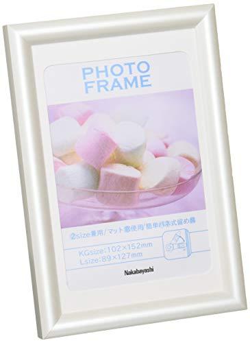 樹脂製(PVC)フォトフレーム KG判/L判 ホワイト フ-TPS-201-W