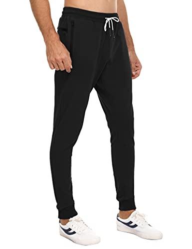 Sykooria Pantalones Deportivos para Hombre Pantalones Largos Pantalones de Deporte Pantalón Chándal de Algodón Jogger de Cintura Ajustable con Bolsillo Deporte Entrenamiento Fitness