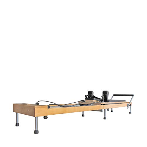 Faltbarer Pilates Reformer / Pilates Maschine / Gym mit Jump Board - Lebenslange Garantie auf das Holz