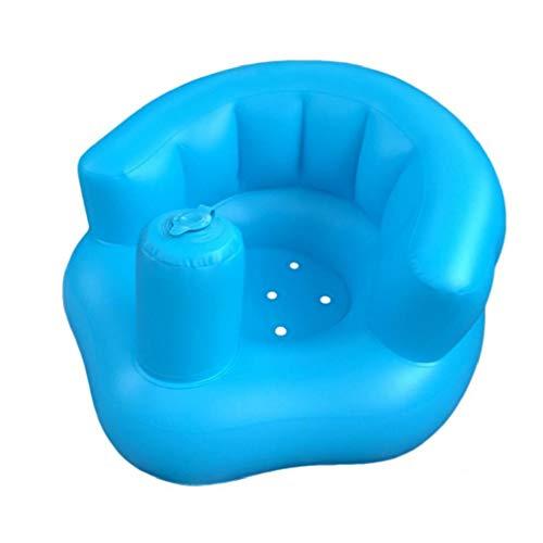 DierCosy Tools El Aprendizaje del Bebé del Asiento De Seguridad Inflables Ayuda Flotador De La Piscina del Baño Sofá Silla Portátil para Bebé Azul
